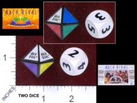 Dice : MINT37 PARKER BROTHERS ARCH RIVAL