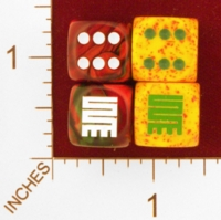 Dice : MINT25 CHESSEX CUSTOM FOR EBAY RACERSKA ADINKRA NKYINKYIM TWISTING 01