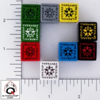 Dice : D6 OPAQUE ROUNDED SOLID Q WORKSHOP FELLOWSHIP OF THE WHITE STAR 03