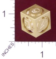 Dice : MINT19 ACE PRECISION D6 BRASS FLOATING FACE BLOOD BOWL 01