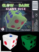 Dice : MINT56 JET CREATIONS INFLATABLE GLOW IN THE DARK GIANT DICE