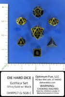 Dice : MINT55 DIE HARD DICE GOLD SHINY