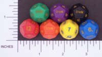 Dice : D12 OPAQUE ROUNDED SOLID CRYSTAL CASTE DOH 01