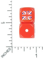 Dice : MINT53 DICE OF WAR BRITISH UNION JACK