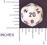 Dice : D20 OPAQUE ROUNDED SWIRL CHESSEX MENAGERIE 02