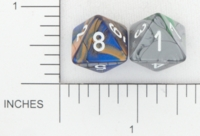 Dice : D8 OPAQUE ROUNDED IRIDESCENT CHESSEX 01
