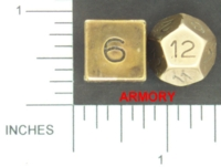 Dice : METAL BRASS MULTI 02