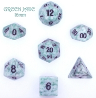 Dice : STONE MULTI CRYSTAL CASTE JADE GREEN 03