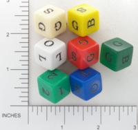 Dice : NON NUMBERED OPAQUE AND CLEAR ROUNDED SOLID GAMESTATION UNKNOWN GAME PROTOTYPE 04