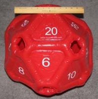 Dice : MINT20 CRYSTAL CASTE INFLATABLE D20 01