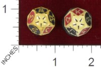 Dice : POKER UNKNOWN CELLULOID 12 SIDED 02