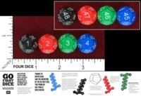 Dice : D12 OPAQUE ROUNDED SOLID MATHS GEAR GO FIRST DICE