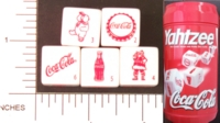 Dice : NON NUMBERED COCA COLA YAHTZEE