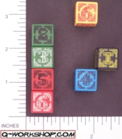 Dice : NUMBERED OPAQUE ROUNDED SOLID Q WORKSHOP CELTIC II 03