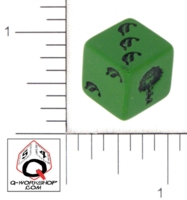 Dice : D6 OPAQUE ROUNDED SOLID Q WORKSHOP ULISSES DAS SCHWARZE AUGE 01