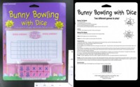 Dice : MINT39 EASTER UNLIMITED BUNNY BOWLING WITH DICE