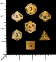 Dice : MINT54 METALLIC DICE GAMES FOSSIL CORAL