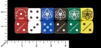 Dice : D6 OPAQUE ROUNDED SOLID CRYSTAL CASTE CUSTOM FOR DICECOLLECTOR DOT COM GENCON 2008 01