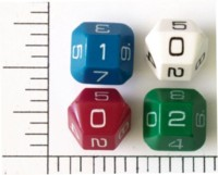 Dice : D10 OPAQUE ROUNDED SOLID UNKNOWN TRUNCATED OCTAHEDRON