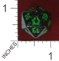 Dice : D20 OPAQUE ROUNDED SPECKLED MTG LIFE COUNTERS RETURN TO RAVNICA 02