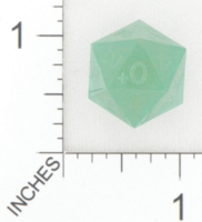 Dice : D20 TRANSLUCENT SHARP SOLID GAMESCIENCE FOX RIVER GREEN 01