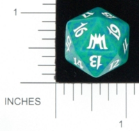 Dice : D20 OPAQUE ROUNDED SPECKLED MTG LIFE COUNTERS ONSLAUGHT 03
