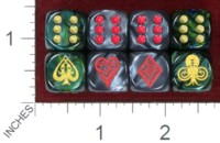 Dice : MINT40 DANN KRISS GAMES CTHULHU BICYCLE CARD SUITS