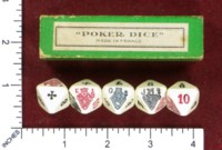 Dice : MINT51 UNKNOWN POKER MADE IN FRANCE