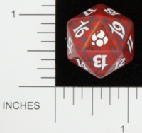 Dice : D20 OPAQUE ROUNDED SPECKLED MTG LIFE COUNTERS MORNINGTIDE 01