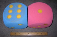 Dice : FOAM3 UKNOWN YELLOW PIPS