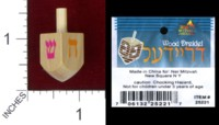 Dice : MINT38 NER MITZVAH DREIDEL WOODEN SMALL 02