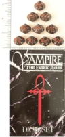 Dice : D10 OPAQUE ROUNDED SPECKLED WW VAMPIRE DARK AGES