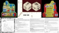 Dice : MINT20 CARDINAL THE SIMPSONS TRIVIA GAME