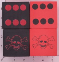 Dice : FOAM2 D6 ORIENTAL TRADING SKULL AND CROSSBONES 01