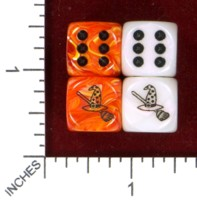Dice : MINT47 JSPASSNTHRU BROOM AND WITCHES HAT