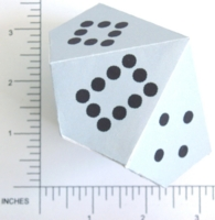 Dice : PAPER D10 PIPPED DOMINO