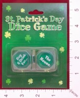 Dice : DUPS05 ORIENTAL TRADING ST PATRICKS DAY DICE GAME 01