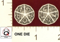 Dice : D10 OPAQUE ROUNDED SOLID Q WORKSHOP CELTIC III 01
