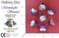 Dice : MINT52 GATE KEEPER GAMES HALFSIES DICE MOONLIGHT SONATA