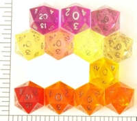 Dice : D20 CLEAR SHARP SOLID 1
