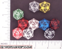 Dice : D20 OPAQUE ROUNDED SOLID Q WORKSHOP DRAGON RERELEASE 01