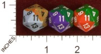 Dice : D20 OPAQUE ROUNDED 2TONE CHESSEX 01