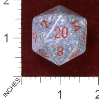 Dice : D20 OPAQUE ROUNDED SPECKLED CHESSEX AIR JUMBO 01
