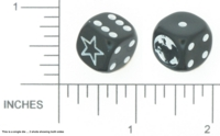Dice : NON NUMBERED OPAQUE ROUNDED SOLID DICE AND GAMES 05