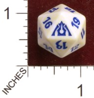 Dice : D20 OPAQUE ROUNDED SPECKLED MTG LIFE COUNTERS DRAGONS MAZE 02