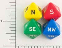 Dice : D8 OPAQUE ROUNDED SOLID DIRECTION 2