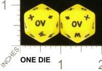 Dice : D20 OPAQUE ROUNDED SOLID UNKNOWN YELLOW 01