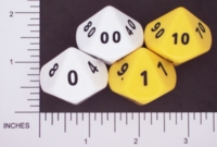Dice : D10 OPAQUE ROUNDED SOLID FAMILY LEARNING 01