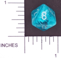 Dice : D8 TRANSLUCENT ROUNDED SWIRL CHESSEX MENAGERIE 01
