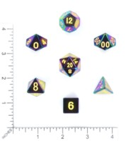 Dice : MINT57 METALLIC DICE GAMES FLAME TREATED